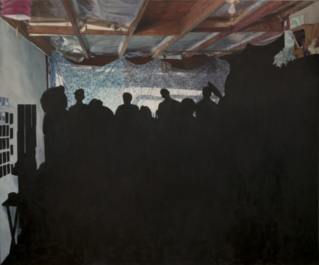 "Kristin Calabrese, Lights Out  2014, Oil on Canvas,  96"" x 144"""