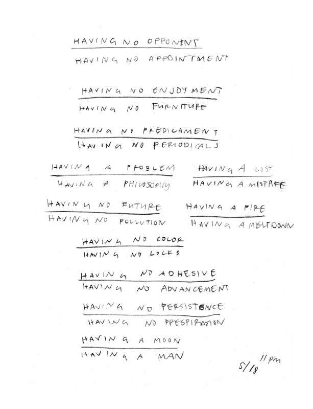 HANNAH KIRBY, having been divided, (bw), 2014