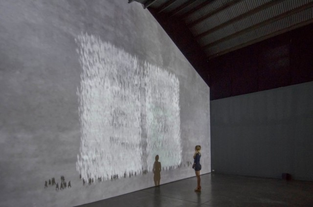 MICHAL ROVNER, Current, 2014. Video projection, Dimensions variable. Courtesy Shoshana Wayne Gallery
