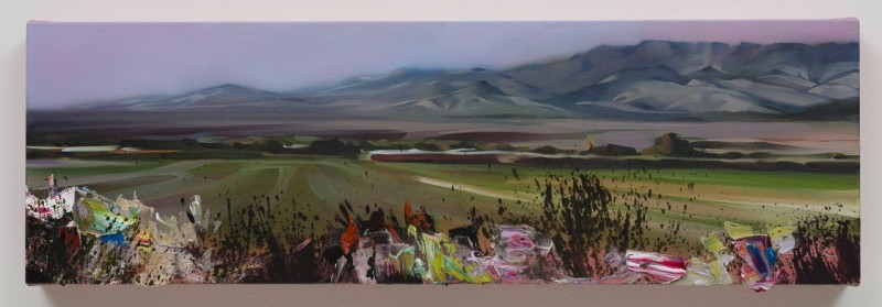 REBECCA CAMPBELL, Perspective, 2013 oil on canvas 12 x 38 in. Courtesy of L.A.Louver Gallery