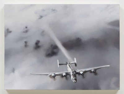 REBECCA CAMPBELL, Bomber, 2013, oil on board 18 x 24 in. Courtesy L.A.Louver Gallery