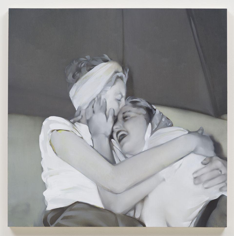 REBECCA CAMPBELL, Big Sister, 2013, oil on board 36 x 36 in. Courtesy LA Louver Gallery