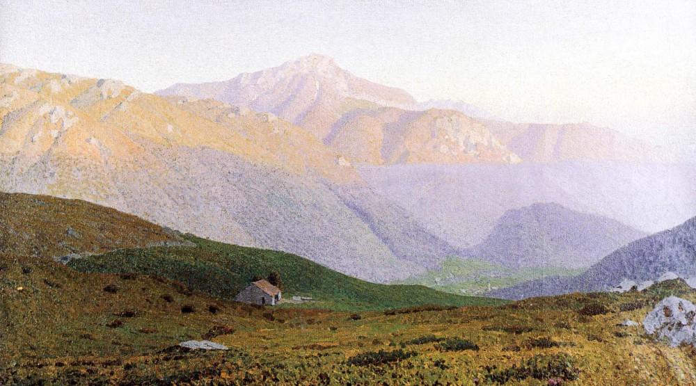 ORESTE ALBERTINI, Grigna II. 1026  Oil on canvas, 240 x 126 cm.