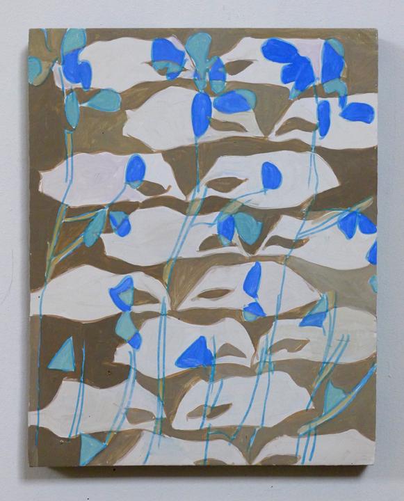 """JOSHUA ASTER, blinkingmasks 2014 oil on canvas over panel, 14.75"""" x 11.75"""" Courtesy of the artist"""