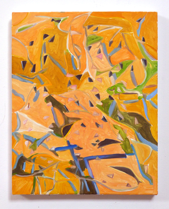 "JOSHUA ASTER, compassoints 2014 oil on canvas over tablet, 14.75"" x 11.75"" Courtesy of the artist"