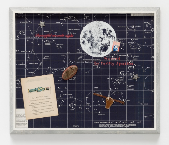 "ALEXIS SMITH, Kerouac Haiku 1994 Mixed media collage, 27"" x 32"" x 2"" Courtesy of Honor Frazer Gallery, Los Angeles"