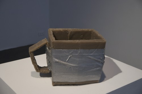 """JEANNE SILVERTHORNE, Drink Me, 2014, Rubber, 12"""" x 12"""" x 6"""" Courtesy of the artist and of Shoshana Wayne Gallery. Photo R.A."""