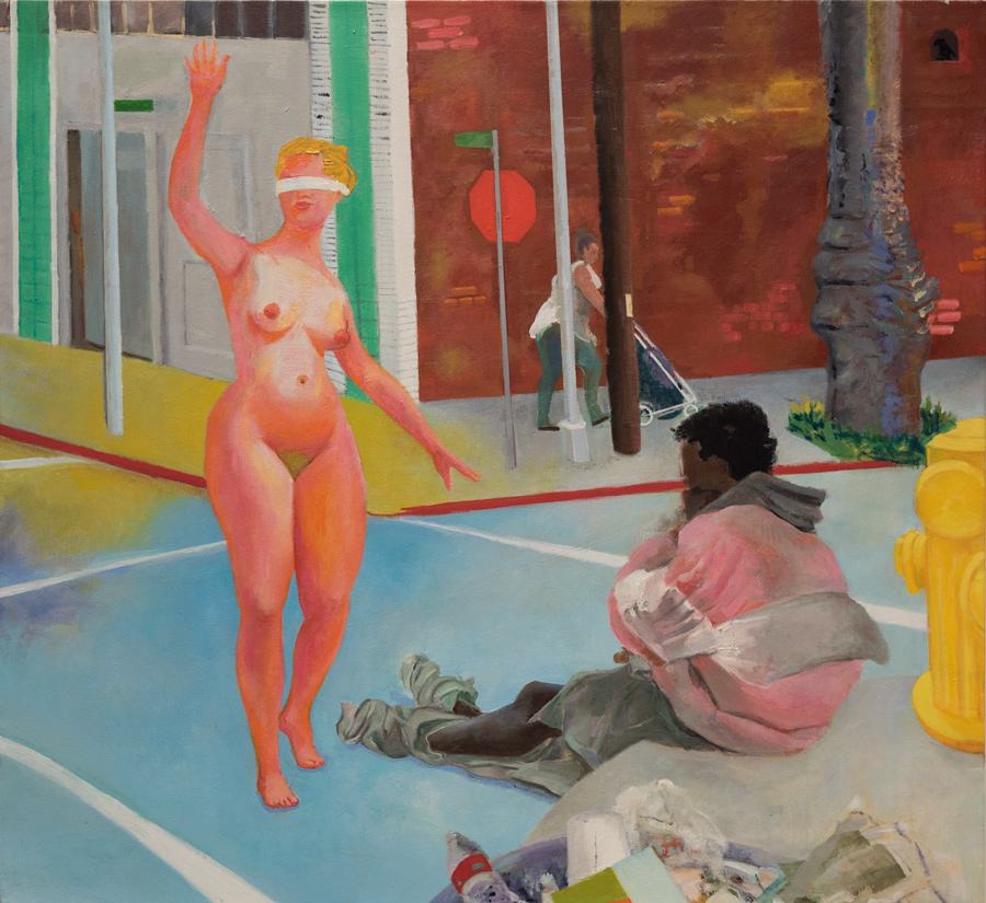 """LES BILLER,   Veterans Affairs  2014  48"""" x 52"""" Courtesy of the artist"""