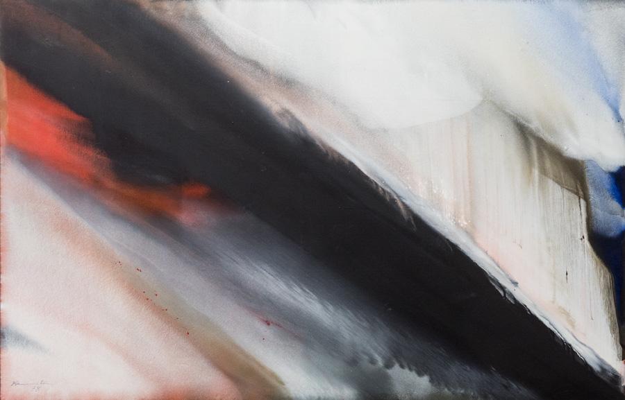 MATSUMI KANEMITSU, Winterstorm, 1978  acrylic on canvas Courtesy of Nancy Uyemura