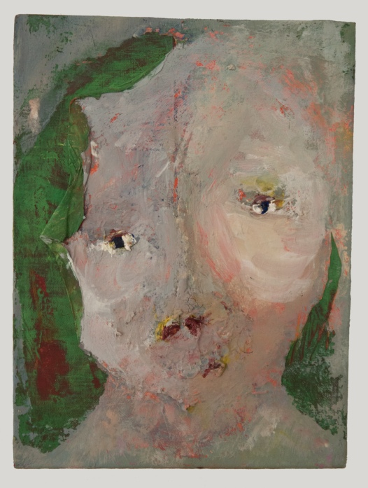 LAUREN LAVITT, Lady Painting, 2007, Oil and acrylic on canvas board. Courtesy of the artist