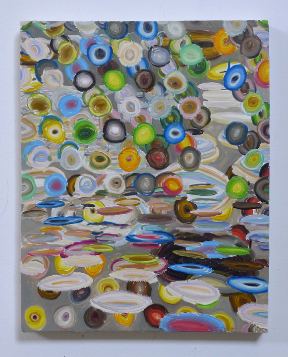 """JOSHUA ASTER, limpidpools 2014, oil on canvas over panel  14.75"""" x 11.75"""" Courtesy of the artist"""