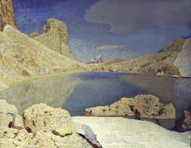 ORESTE ALBERTINI, Lago di Antermoia di giorno, 1930-1940