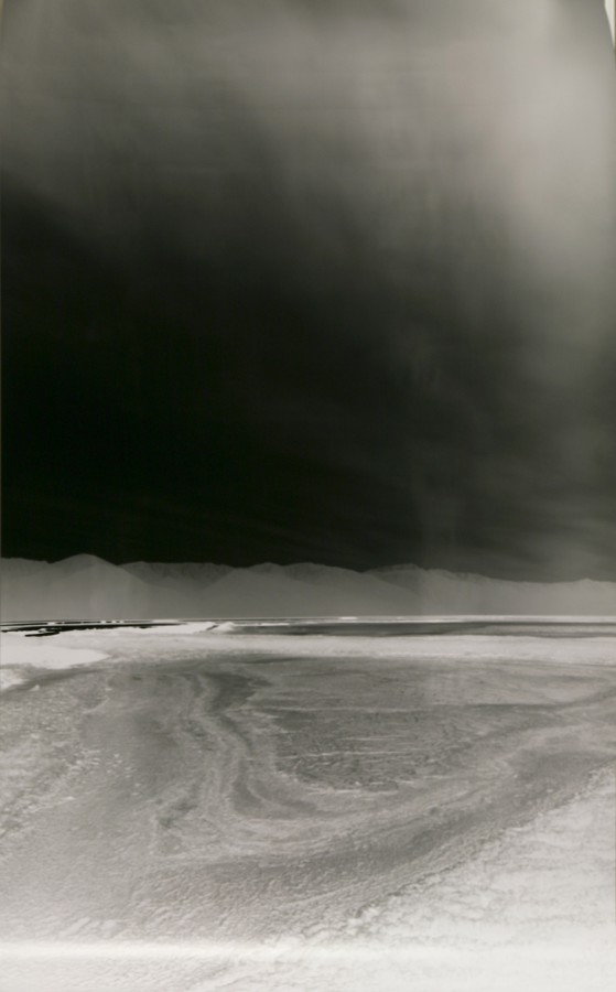 JULIE SHAFER, Conquest of the Vertical; 600 miles from Eureka!  2012 Silver gelatin pinhole negative, 68 x 42 Courtesy of the artist