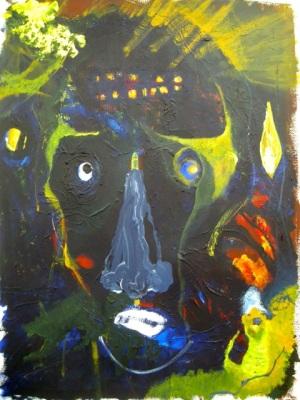 """RICHARD LAU, Untitled, 2012, Acrylic on paper, 24"""" x 18"""" Courtesy of 137ac"""