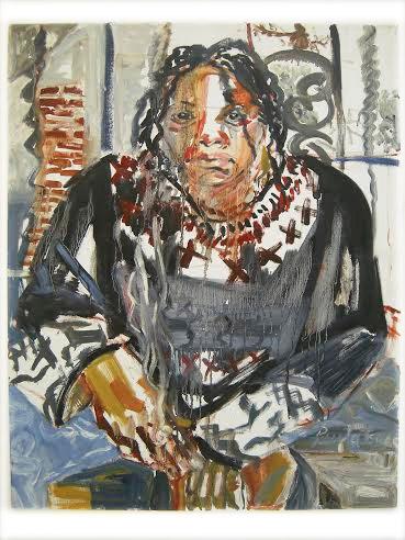"""PAULA ISAAC, Self Portrait, 2014, Oil on canvas, 28"""" x 22"""" Courtesy of 137ac"""