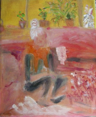 UMAN, Luly in orange scarf,  2014, Oil on canvas Courtesy of the artist