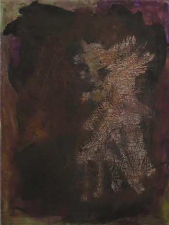 UMAN, Dark Woods, 2012, Oil on primed paper, 12