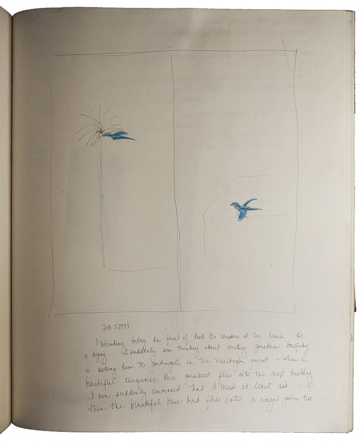 EUGENIA P. BUTLER, A page from her notebook about the nineties Courtesy of Corazon del Sol