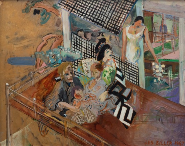 LES BILLER, Heian Family, 1964-67, Oil enamel on masonite