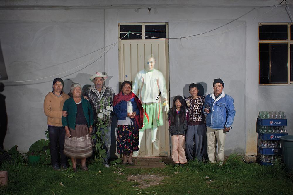 JULIO BARRITA, Broken Spaces, 2014, digital photographs on cloth  Courtesy od SPARC, Los Angeles