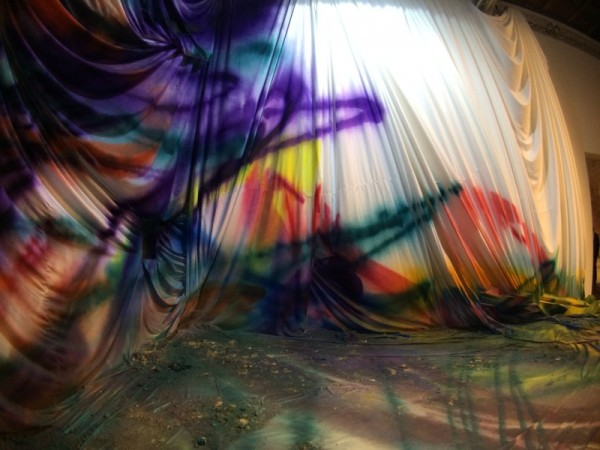 """KATHARINA GROSSE, Installation at Venice Biennale 20115, """"All the World's Futures."""""""