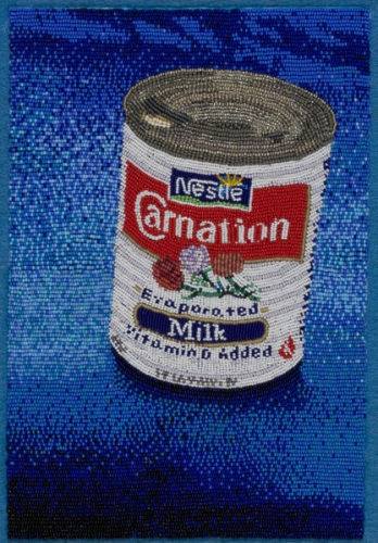 COREY STEIN, Carnation milk beads hand sewn on felt, Courtesy of the artist Courtesy of the artist
