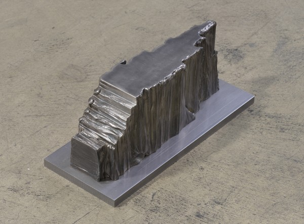 """MITCHELL SYROP, Than That Now 2015 steel, 12"""" x 5"""" x 5.5"""" Courtesy of the artist and François Gebaly Gallery"""