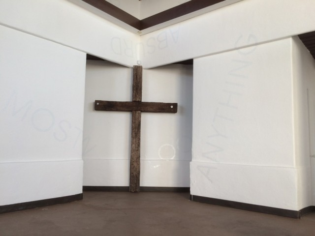 ROBERT BARRY, 2016 Installation at Bethlehem Church Los Angeles Courtesy of the artist and Thomas Solomon Art Advisory Photo: Peter Kirby