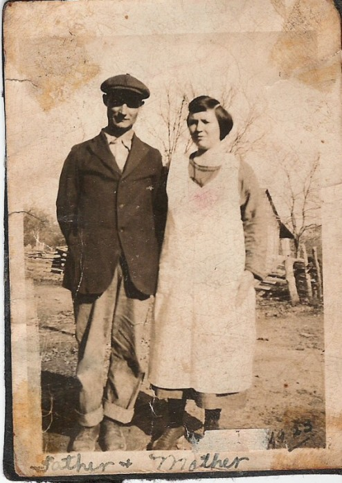 William and Annie Burgess, my mother's parents just before he died. Early to mid '30s