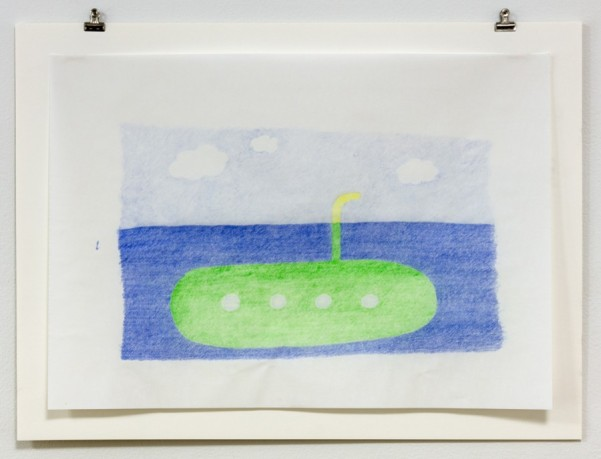 NICK AUSTIN, Secondary Submarine Studies, diptych, 2015, colored pencil on paper Courtesy of the artist and Laurel Doody