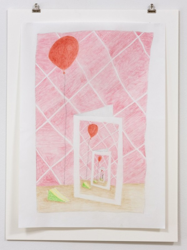 NICK AUSTIN, Many Happy Returns, 2015, colored pencil on paper Courtesy of the artist and Laurel Doody