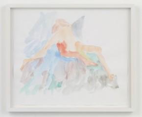 "NAOTAKA HIRO, Untitled, 2015 Pencil, watercolor, 17"" x 14"" Courtesy of the artist and Misako & Rosen, Tokyo"