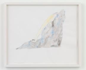 "NAOTAKA HIRO, Untitled, 2015 Pen, watercolor, 17"" x 14"" Courtesy of the artist and Misako & Rosen, Tokyo"