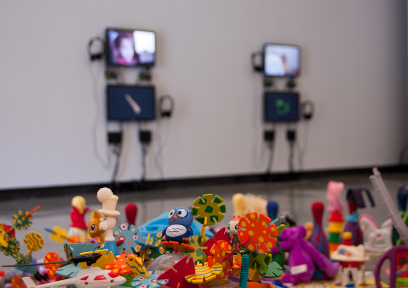 """JOEL TAUBER, """"The Sharing Project"""", Installation at the University Art Museum, Cal State Long Beach, 2015"""