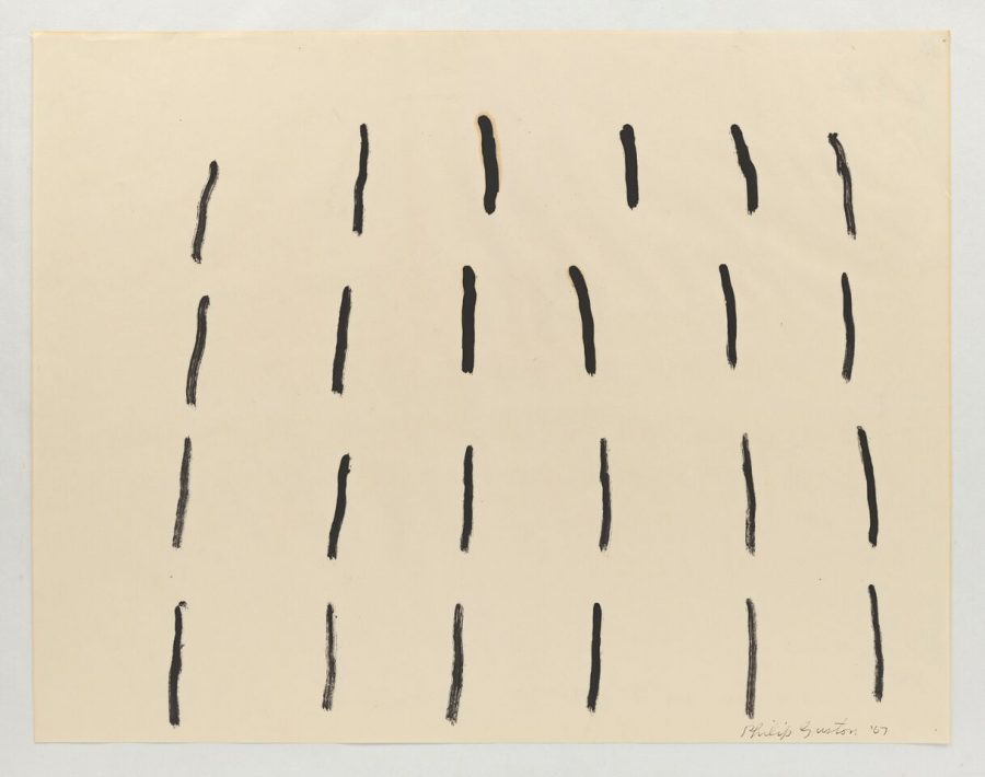 PHILIP GUSTON, Untitled, 1967 Brush ans ink on paper, 18 1/8 x 23 1/8 inches @ The Estate of Philip Guston - Courtesy Hauser and Wirth
