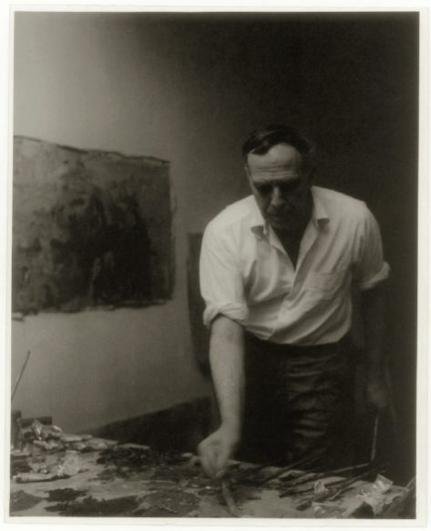 Philip Guston in his studio, New York, 1957 Photo: Arthur Swoger @ The Estate of Philip Guston - Courtesy Hauser and Wirth