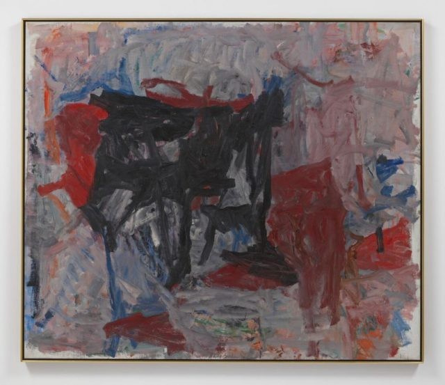 PHILIP GUSTON, Untitled 1958 Oil on canvas 64 1/8 x 75 1/4 inches @ The Estate of Phiip Guston - Courtesy of Houser and Wirth