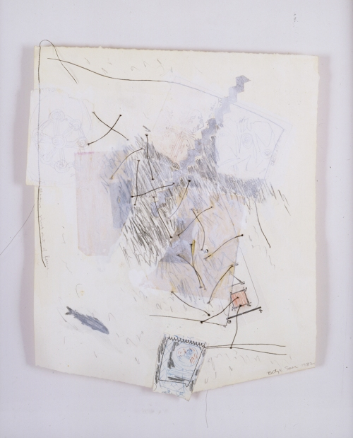 "BETYE SAAR, Always Just Out of Focus 1982, Mixed media collage on paper 18 x 13.5"" Courtesy of the artist and Roberts & Tilton, Culver City, CA"