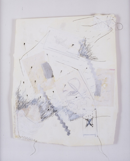 "BETYE SAAR, Collecting Twilight Corners 1982, Mixed media collage on paper 19.5 x 14.75"" Courtesy of the artists and Roberts & Tilton, Culver City, CA"