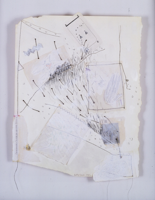 "BETYE SAAR, Every Secret Things (Almost) 1982 Mixed media collage on paper 20 x 13.25"" Courtesy of the artist and Roberts & Tilton, Culver City, CA"