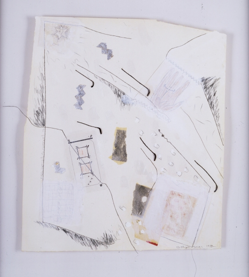 "BETYE SAAR, To Follow Separate Stars 1982, Mixed media collage on paper 18 x 15.5"" Courtesy of the artist and Roberts & Tilton, Culver City, CA"