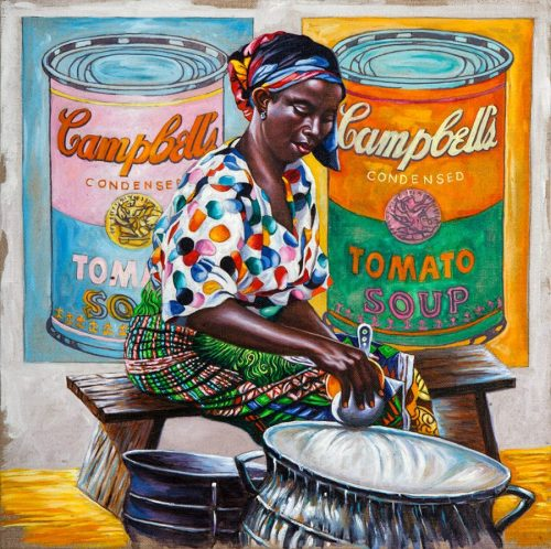 ALI HASSOUN, Campbell Soup n.1, 2013, oil on canvas, 42 x 42 cm Courtesy of the artist and Studio Guastalla, Milano