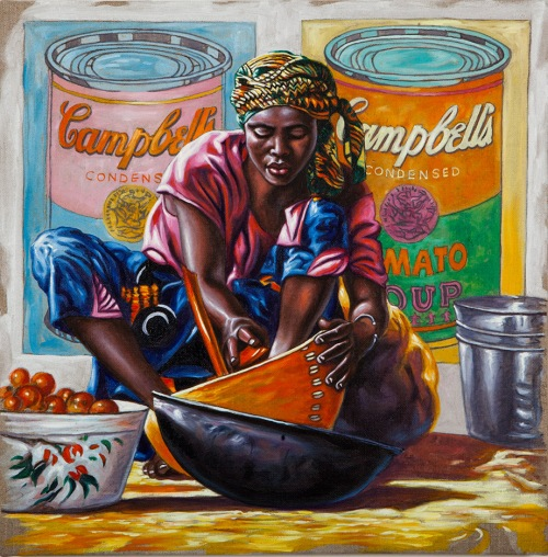 ALI HASSOUN, Campbell Soup n.2, 2013, oil on canvas, 42 x 42 cm Courtesy of the artist and Studio Guastalla, Milano